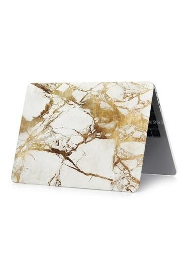 "Mcstorey MacBook Pro A1278 13"" 13.3"" Kılıf Sert Shell Kapak Koruma Hard Incase Mermer Taş"